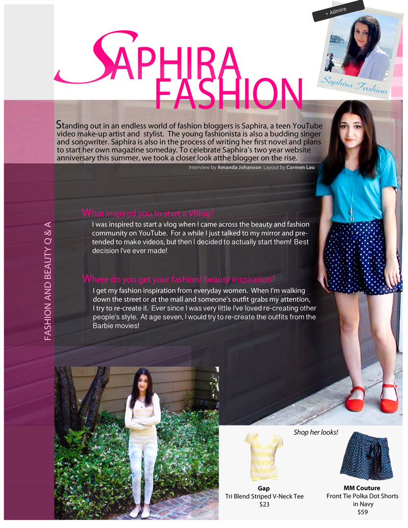 SaphiraFashion LookMazing Feature